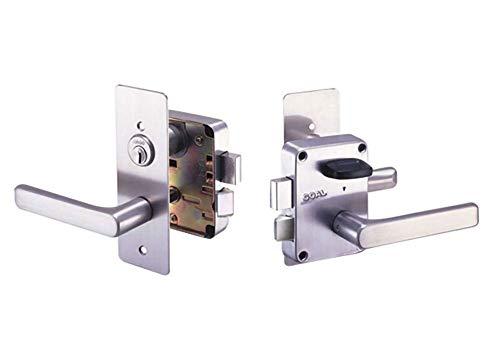GOAL(ゴール) GOAL_V-L435 V18シリンダー 面付箱錠 レバーハンドル キー標準3本付属 玄関 鍵 交換 取替え