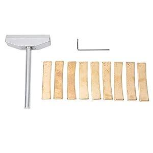 Hongzer Fret Press Caul und Insert Kit, Gitarrenpresse Caul Tool E-Gitarre Fret Press Caul Insert Set, Reparaturset für Musikinstrumente