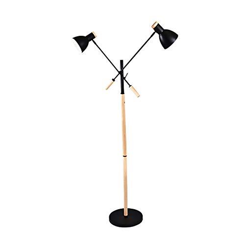 Lámpara de pie Lámpara De Polo Interior Del Brazo Ajustable De Doble Cabeza, Estilo Moderno Simple Creativo, Adecuado Para El Soporte De Bombilla E27, Diseño Del Interruptor De Pie Estilo nórdico