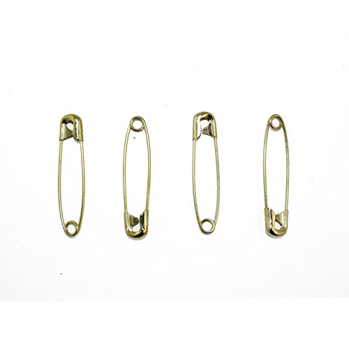 Gold Safety Pins Size 2-1.5 Inch 144 Pieces Premium Quality