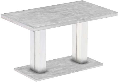 Brasil Furniture Rio UNO Rond 90 cm Brasil tafel eettafel massief grenen, eetkamertafel hout keukentafel echt hout maat en kleur naar keuze Rustiek Tisch 140 x 80 cm 219 beton wit