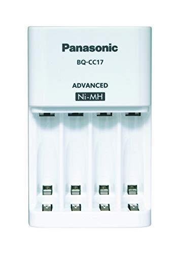 Panasonic Eneloop K-KJ17MCC40E , intelligentes Premium-Ladegerät, für 1-4 Ni-MH Akkus AA/AAA, mit LED-Anzeige und Einzelschachtüberwachung, inklusive 4x eneloop Mignon, min. 1900 mAh, 2100 Ladezyklen