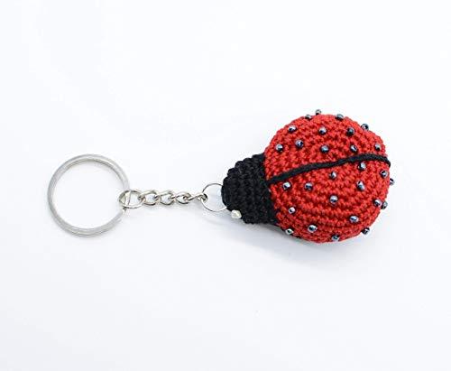 Pendentif à breloques porte-clés, coccinelle au crochet, petit coléoptère