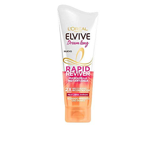 L'Oréal Paris Elvive Dream Long  Rapid Reviver, Mascarilla Instantánea Reconstructora para Pelo largo Dañado - 180 ml