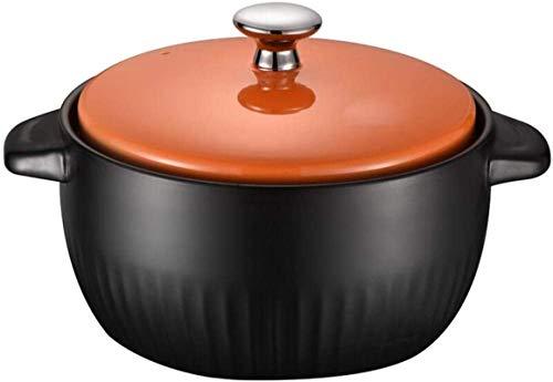 HYYDP Cacerolas Utensilios de Cocina 3.5L Plato de cazuela de Terracota: Resistencia a Alta Temperatura, Ciclo térmico