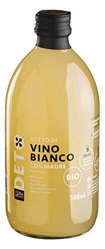 Aceto di Vino Bianco Biologico con Madre Naturale Dell'aceto Non Filtrato Non Pastorizzato - 500 ml