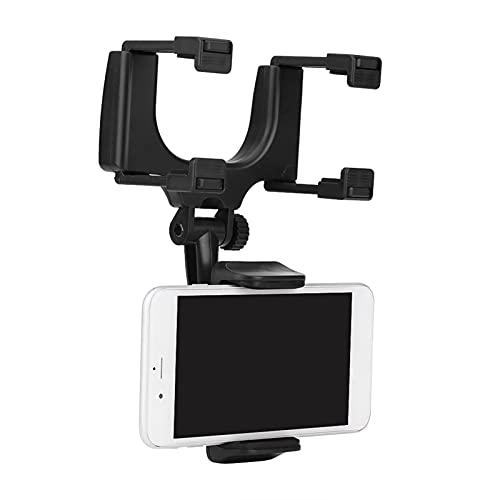 Soporte para teléfono, soporte para teléfono, soporte universal para espejo retrovisor para teléfono inteligente para automóvil para espejo retrovisor de automóvil