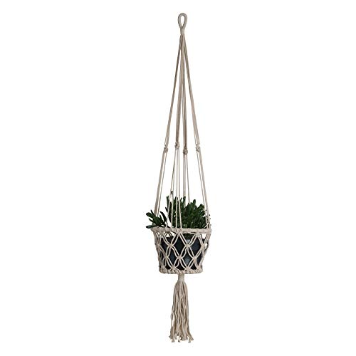 STUFF Loft Makramee Blumenampel/Plant Hanger aus Baumwolle Ø 17 cm, H 90 cm