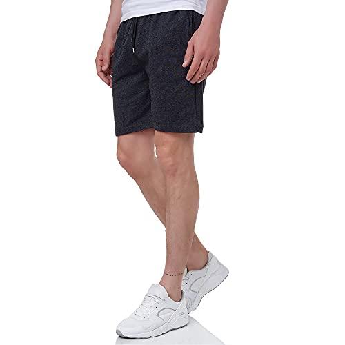 Smith & Solo Sporthose Herren Kurz - Kurze Hosen Herren, Laufshorts Männer Sommer Baumwolle Jogginghose Fitnesshose Sport Sportshorts Bermuda Shorts Hose Trainingshose Tennis (M, Anthrazit)