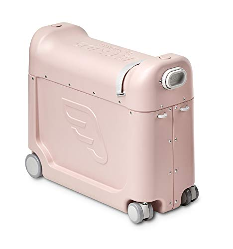 JetKids by STOKKE - BedBox - Spacious Premium Children's Ride-on Suitcase That Turns an Economy seat into a First Class Travel Experience- Color: Pink Lemonade