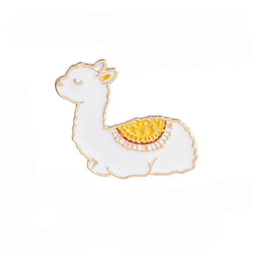 wangk Bebé Llama Esmalte Pin Lindo Animal Insignia broches Regalo Dibujos Animados...