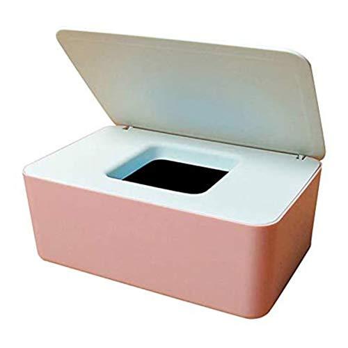 Morninganswer Caja de pañuelos húmedos húmedos y secos de doble uso, caja de bombeo para el hogar a prueba de polvo Toallitas Caja de almacenamiento de escritorio con cubierta