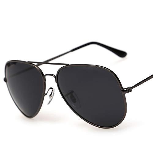 ERYG Gafas de Sol polarizadas para Hombres y Mujeres, protección UV, Gafas de Sol de Playa de Metal ultraligeras de Aviador A