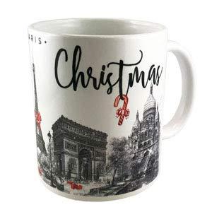 DESSAPT EDITIONS L ART DU SOUVENIR - Mug Paris Noel Rouge - Made in France - Collection Souvenirs de Paris