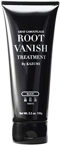 ROOT VANISH ヘアカラートリートメント ブラック(髪と頭皮に優しい白髪染め・22種類の植物エキス配合)