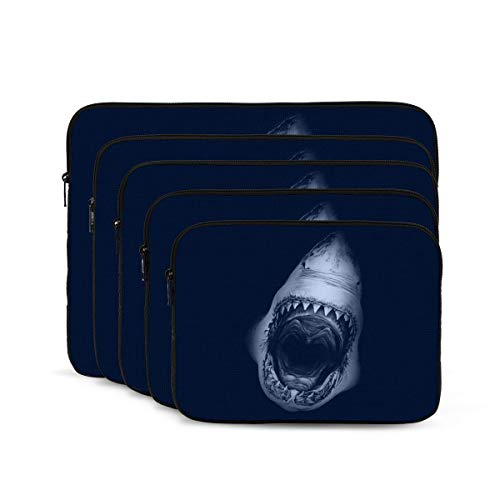 Shark Print Laptop Sleeve 13 inch, Shock Resistant Notebook Briefcase, Computer Protective Bag, Tablet Carrying Case for MacBook Pro/MacBook Air/Asus/Dell/Lenovo/Hp/Samsung/Sony