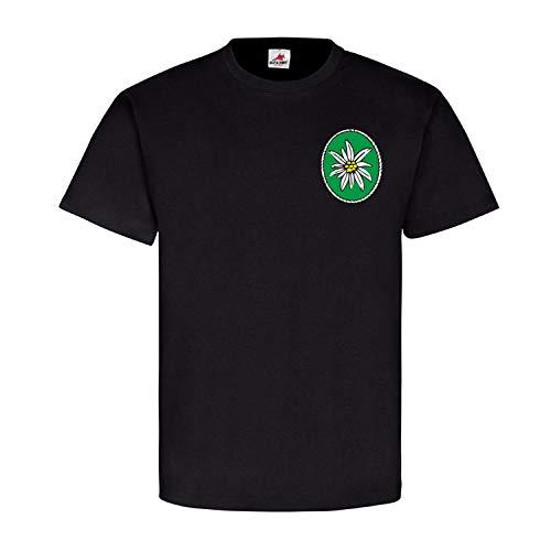 Gebirgsjäger 2-232 Strub GebJg BW Gebirgsjägerbataillon Kompanie T Shirt #18612, Farbe:Schwarz, Größe:L