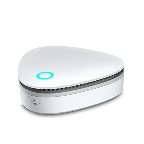 iFCOW - Generador de ozono esterilizador portátil, purificador de aire, limpia olor y bacterias. Para desinfección y esterilización de ropa de armario, recargable