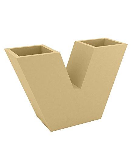 Vondom 43310a–Vaso uve Nano di 10x 30x 20cm, Basic, Colore: Beige