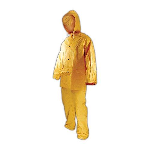 Magid RainMaster PVC 3-Piece Rainsuit with Jacket, Hood and Pants, 2XL