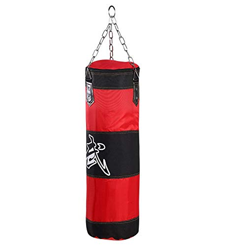 Zyyini Sacco di Sabbia Vuoto, Sacco da Boxe Muay Thai Heavy Bag Allenamento Gancio Boxe Kick Sandbag Lotta Karate Punch Punzonatura Sand Bag Sandbag - Non Riempito