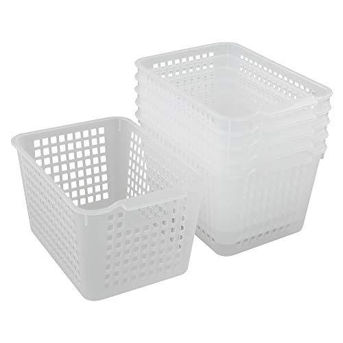 Eudokky 6er-Set AufbewahrungsköRbe Kunststoff, Plastikkorb, KöRbchen Plastik, Transparent