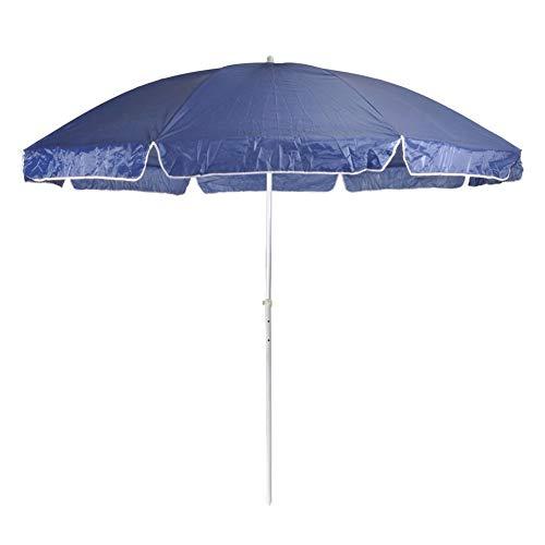 Wakects Ombrellone Parasole Rotondo, Ombrellone Parasole da Spiaggia Ø 300 cm, Ombrellone da Giardino Protezione Solare, per Mare Piscina Giardino, Colore: Blu