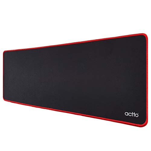 Actto Wide Gaming Mouse Pad with Stitched Edges, Large Mousepad with Premium-Textured Cloth, Non-Slip Rubber Base, Waterproof Keyboard Pad, Desk Mat Pad for Gamer, Office & Home, 30.7 x 11.8 inches