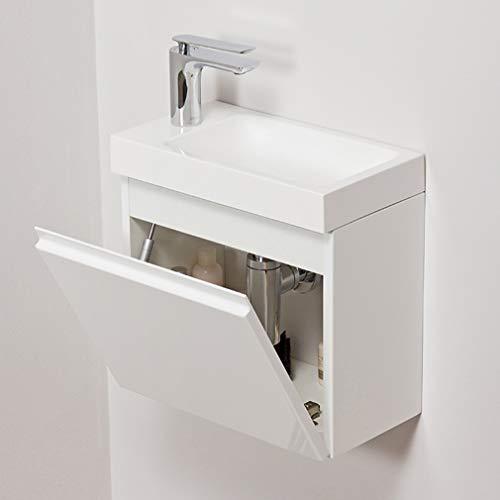 Quentis Badmöbel Gäste-WC Set Faros, Breite 40 cm, Waschbecken mit Unterschrank, weiß