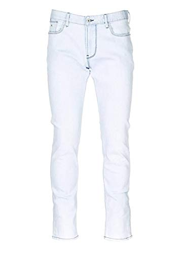 Emporio Armani Men's 5 Pocket Light Blue Jeans, Brand Size 36 Armani Five Pocket Jeans