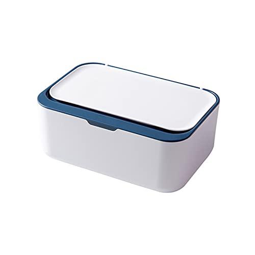 Zhongchao Caja de pañuelos de escritorio moderna a prueba de polvo fácil de usar toallitas húmedas dispensador titular para oficina en casa con diseño de sellado