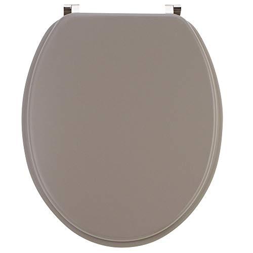 Wirquin 20717957 Abattant de WC, Taupe Mat, 47,4 x 38 x 6,4 cm