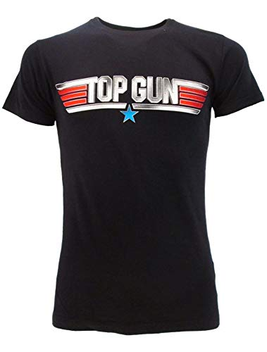 Sabor Srl T-Shirt Top Gun 2 Original Film Tom Cruise Maverick Dunkelblau Navy T-Shirt Offizielles T-Shirt, Blau XL