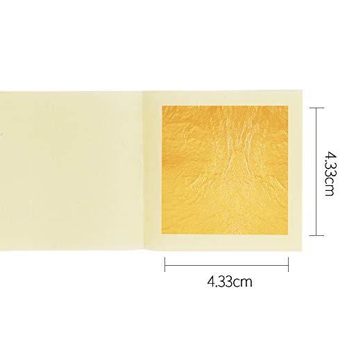 My Berg Echte Blattgold Essbar 24 Karat Goldfolie 10 Blatt 4.33cm zum Basteln Lebensmittel Kuchen Backen Torten Dekorfolie Kunsthandwerk