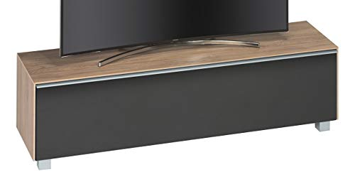 MAJA Möbel SOUNDCONCEPT Wood 7730 Soundboard, Abmessungen (BxHxT): 161,10 x 43,60 x 42 cm, Eiche hell-akustikstoff schwarz, 10 x 42 x 43,60 cm