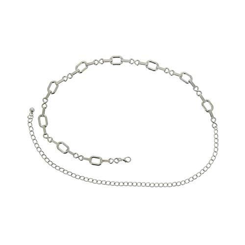 FASHIONGEN - Damen Gürtel Kettengürtel, Gürtelkette verstellbar SYLVIE - Silber, Einheitsgröße