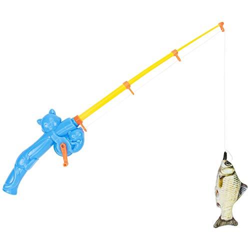 Fairly Odd Novelties Cat Fishing Rod Pet Toy Funny Interactive Fish Kitten Gift Item