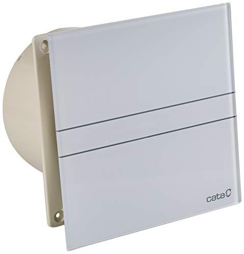 Cata | Extractor baño | Modelo e-150 G | Estractor de baño Serie e Glass | Ventilador Extractores de aire | Extractor baño silencioso | color blanco |