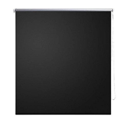 vidaXL Estor persiana Enrollable 140 x 230 cm Negro Ventana Clip Seguridad