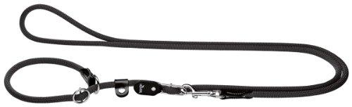HUNTER Freestyle Retrieverleine, Tau, mit integrierter Halsung, robust, wetterfest, 1,0/260 cm, schwarz