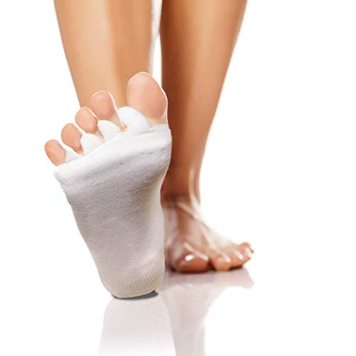 High Pulse Zehenspreizer Socken (2 Paar | Einheitsgröße) - Die sanfte Entspannung bei Hallux Valgus und Zehenfehlstellungen (2er Set Creme)