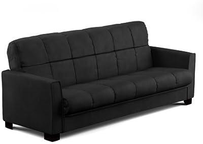 Amazon.com: Rivet Top-Grain Leather Sofa – Andrews, Modern ...