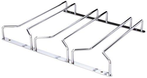 Oenophilia Under Cabinet Stemware Rack, Wine Glass Hanger Under Cabinet Kitchen, Chrome Finish,...