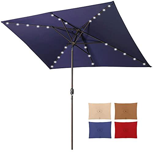 Aok Garden 10ft Patio Umbrella with Solar Lights - 30 LED...