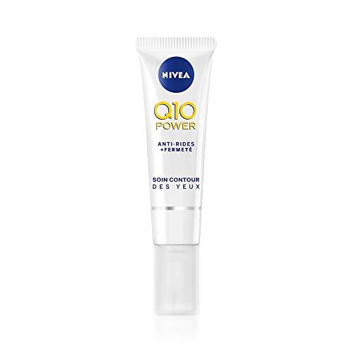 NIVEA Q10 Power Soin Contour des Yeux Anti-Rides +Fermeté (1x15 ml), crème anti-âge enrichie en Q10 avec 10X plus de créatine, crème hydratante, soin visage femme