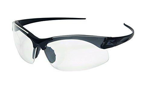 Edgeware Adultes Tactical Safety Eyewear, Sharp Edge, Noir Mat, revêtement Anti-Rayures, Anti-buée en Vaporisateur Shield Verres de Lunettes de Protection, Multicolore, Taille Unique