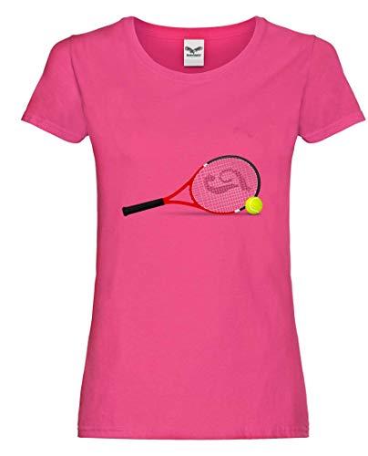 T-Shirt - Tennisschläger Tennis Tennisball Kugel - Tshirt für Damen und Frauen
