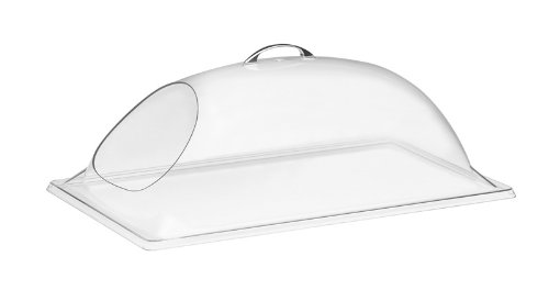 """Cal-Mil 322-12 Clear Chafer Cover, 12"""" Width x 20"""" Depth x 7.5"""" Height, Clear"""