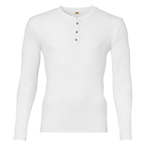 Levis Herren Langarm Shirt 300LS Long Sleeve 2er Pack, Größe:XL;Farbe:White (300)