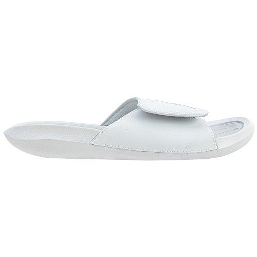 Nike Jordan Mens Hydro 6 White Pure Platinum Synthetic Leather Sandals 46 EU